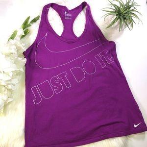 Nike Purple Tank Top Activewear Holographic